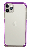 Eiroo Color Fit iPhone 11 Pro Kamera Korumalı Mor Silikon Kılıf