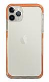 Eiroo Color Fit iPhone 11 Pro Kamera Korumalı Turuncu Silikon Kılıf