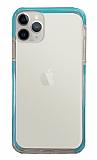 Eiroo Color Fit iPhone 11 Pro Kamera Korumalı Mavi Silikon Kılıf