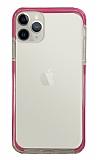 Eiroo Color Fit iPhone 11 Pro Kamera Korumalı Pembe Silikon Kılıf