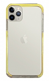 Eiroo Color Fit iPhone 11 Pro Kamera Korumalı Sarı Silikon Kılıf