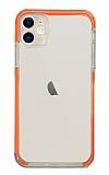 Eiroo Color Fit iPhone 12 6.1 inç Kamera Korumalı Turuncu Silikon Kılıf