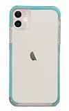 Eiroo Color Fit iPhone 12 6.1 inç Kamera Korumalı Mavi Silikon Kılıf