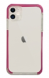 Eiroo Color Fit iPhone 12 6.1 inç Kamera Korumalı Pembe Silikon Kılıf