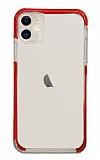 Eiroo Color Fit iPhone 12 6.1 inç Kamera Korumalı Kırmızı Silikon Kılıf