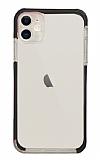 Eiroo Color Fit iPhone 12 6.1 inç Kamera Korumalı Siyah Silikon Kılıf