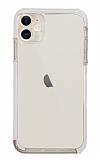 Eiroo Color Fit iPhone 12 6.1 inç Kamera Korumalı Beyaz Silikon Kılıf