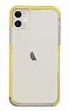 Eiroo Color Fit iPhone 12 6.1 inç Kamera Korumalı Sarı Silikon Kılıf