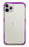 Eiroo Color Fit iPhone 12 Pro 6.1 inç Kamera Korumalı Mor Silikon Kılıf