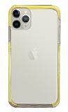 Eiroo Color Fit iPhone 12 Pro 6.1 inç Kamera Korumalı Sarı Silikon Kılıf