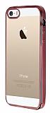 Eiroo Color Fit iPhone 5 / 5S Rose Gold Kenarl� �effaf Silikon K�l�f