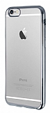 Eiroo Color Fit iPhone 6 Plus / 6S Plus Silver Kenarl� �effaf Silikon K�l�f