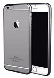 iPhone 7 Plus / 8 Plus Dark Silver Kenarlı Şeffaf Silikon Kılıf