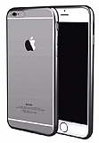 iPhone 7 Siyah Kenarlı Şeffaf Silikon Kılıf