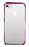 Eiroo Color Fit iPhone 7 / 8 Kamera Korumalı Mor Silikon Kılıf