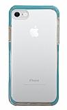 Eiroo Color Fit iPhone 7 / 8 Kamera Korumalı Mavi Silikon Kılıf