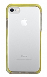 Eiroo Color Fit iPhone 7 / 8 Kamera Korumalı Sarı Silikon Kılıf
