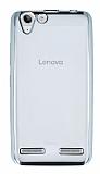 Lenovo Vibe K5 Silver Kenarlı Şeffaf Silikon Kılıf