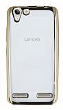 Eiroo Color Fit Lenovo Vibe K5 Gold Kenarlı Şeffaf Silikon Kılıf