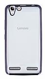 Lenovo Vibe K5 Siyah Kenarlı Şeffaf Silikon Kılıf