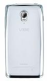 Lenovo Vibe P1 Silver Kenarlı Şeffaf Silikon Kılıf