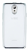 Lenovo Vibe P1m Silver Kenarlı Şeffaf Silikon Kılıf