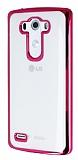 LG G3 Pembe Kenarlı Şeffaf Silikon Kılıf