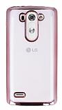 LG G3 S / G3 Beat Rose Gold Kenarlı Şeffaf Silikon Kılıf