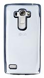 LG G4 Beat Siyah Kenarlı Şeffaf Silikon Kılıf