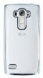 LG G4 Beat Silver Kenarlı Şeffaf Silikon Kılıf