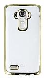 LG G4 Gold Kenarlı Şeffaf Silikon Kılıf