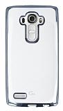 LG G4 Silver Kenarlı Şeffaf Silikon Kılıf