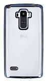 LG G4 Stylus Siyah Kenarlı Şeffaf Silikon Kılıf