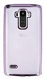 LG G4 Stylus Rose Gold Kenarlı Şeffaf Silikon Kılıf