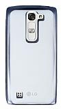 Eiroo Color Fit LG G4c Siyah Kenarlı Şeffaf Silikon Kılıf