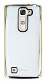Eiroo Color Fit LG G4c Gold Kenarlı Şeffaf Silikon Kılıf