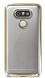 LG G5 Gold Kenarlı Şeffaf Silikon Kılıf