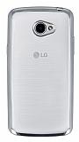 LG K5 Silver Kenarlı Şeffaf Silikon Kılıf