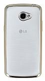 LG K5 Gold Kenarlı Şeffaf Silikon Kılıf
