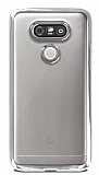 LG G5 Silver Kenarlı Şeffaf Silikon Kılıf