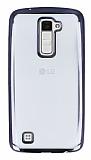 LG K10 Siyah Kenarlı Şeffaf Silikon Kılıf