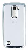 LG K10 Silver Kenarlı Şeffaf Silikon Kılıf
