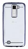 LG K8 Siyah Kenarlı Şeffaf Silikon Kılıf