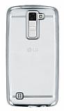 LG K8 Silver Kenarlı Şeffaf Silikon Kılıf