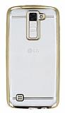 LG K8 Gold Kenarlı Şeffaf Silikon Kılıf
