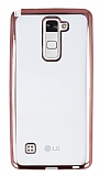 Eiroo Color Fit LG Stylus 2 Rose Gold Kenarl� �effaf Silikon K�l�f