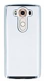 LG V10 Silver Kenarlı Şeffaf Silikon Kılıf