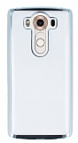 Eiroo Color Fit LG V10 Silver Kenarlı Şeffaf Silikon Kılıf