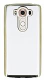 Eiroo Color Fit LG V10 Gold Kenarlı Şeffaf Silikon Kılıf