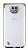 LG X cam Gold Kenarlı Şeffaf Silikon Kılıf